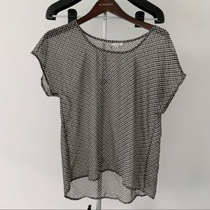 Nordstrom PLEIONE black & white pattern top